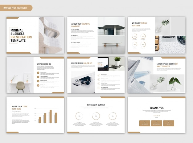 Modello di cursore aziendale presentazione aziendale minima