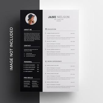 Modello di design creativo curriculum pulito