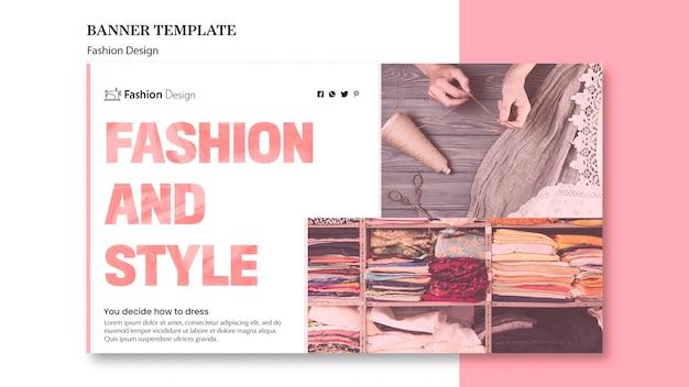 Modello di design di moda per banner