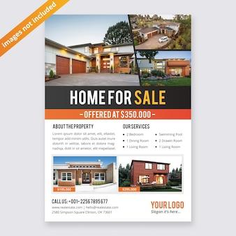 Modello di disegno di affari flyer immobiliare