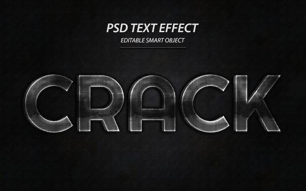 Modello di disegno effetto testo crack
