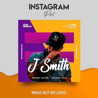 Modello di dj instagram post