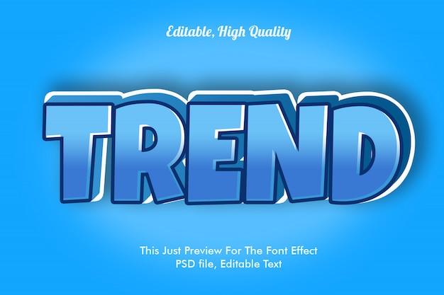 Modello di effetto carattere tendenza