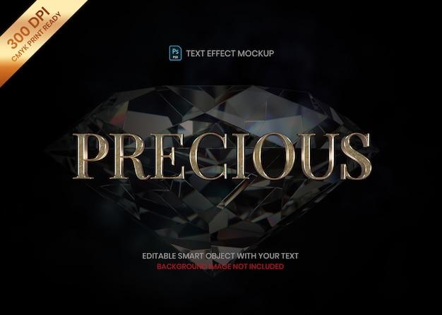 Modello di effetto di testo 3d logo oro realistico di lusso ed elegante
