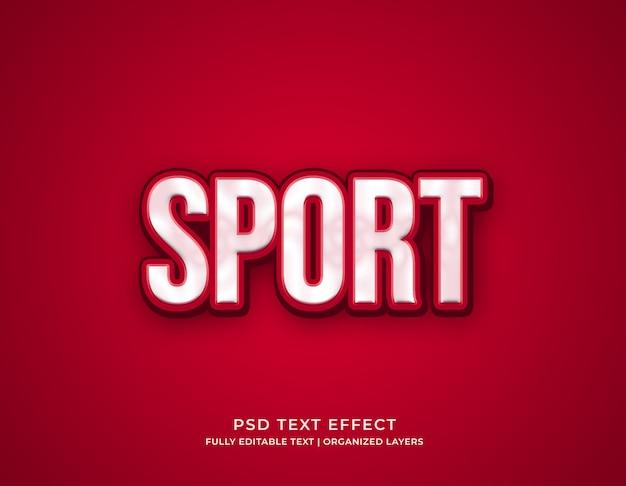 Modello di effetto testo modificabile sport