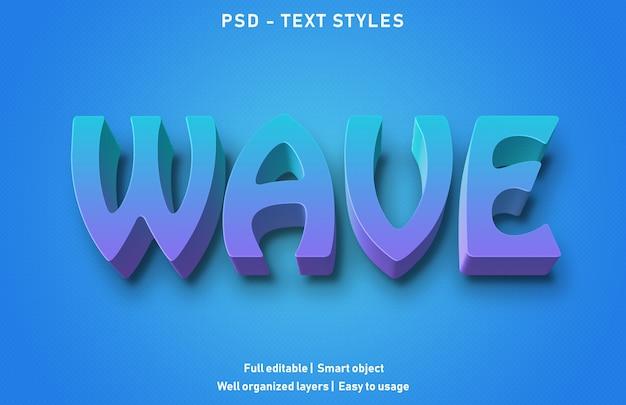 Modello di effetto testo wave