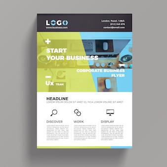 Modello di flyer business