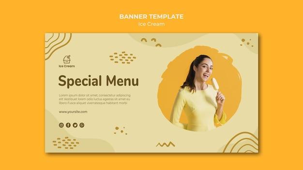 Modello di gelato banner