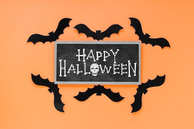 Modello di halloween con il concetto di ardesia