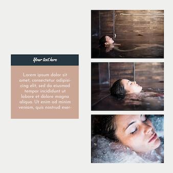 Modello di instagram post con il concetto di spa