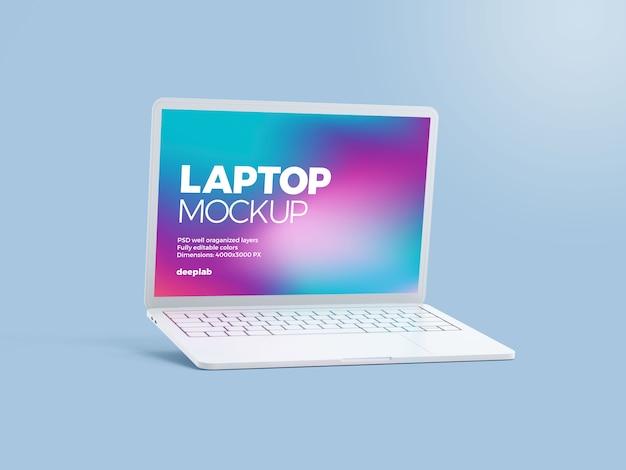 Modello di laptop con colore di sfondo modificabile