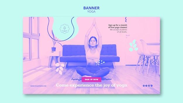 Modello di lezioni di yoga banner
