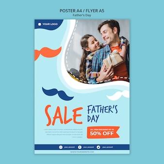 Modello di manifesto colorato giorno di padri