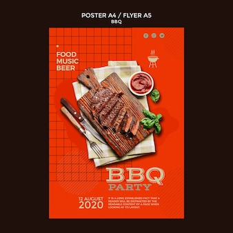 Modello di manifesto del barbecue party
