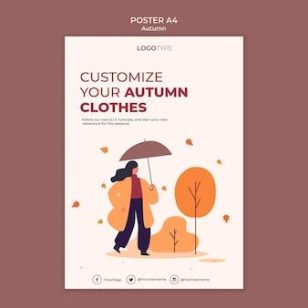 Modello di manifesto del concetto di autunno