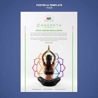 Modello di manifesto del concetto di yoga