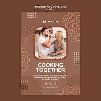 Modello di manifesto di cucina a casa