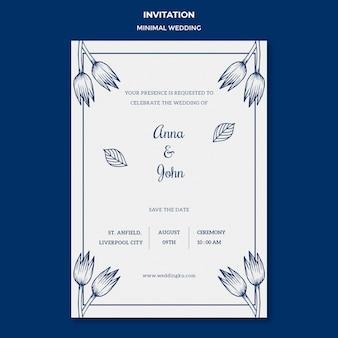Modello di matrimonio per carta di invito