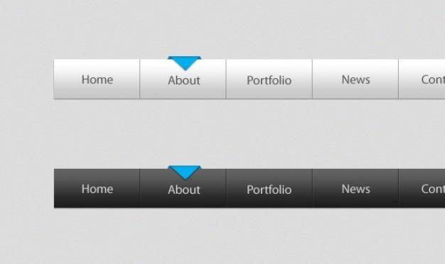 Modello di menu psd & html