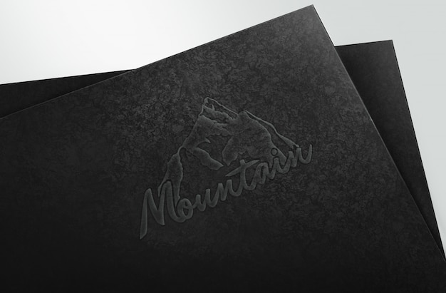 Modello di mockup con logo in rilievo