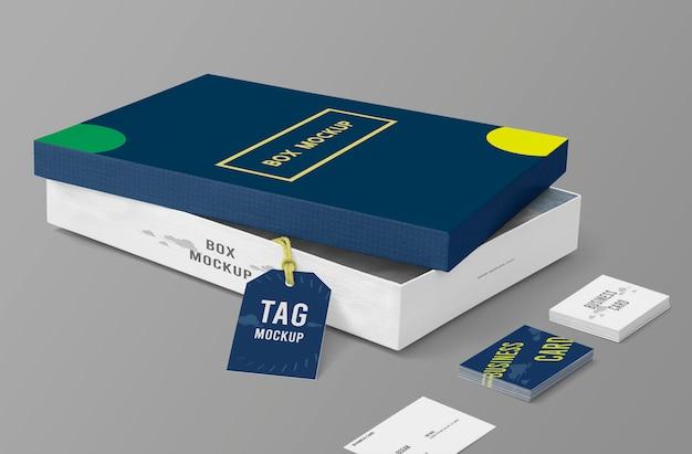 Modello di mockup confezione scatola