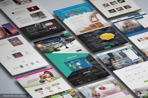 Modello di mockup del sito web