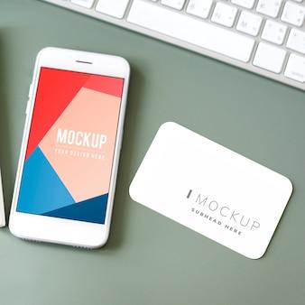 Modello di mockup dello schermo del telefono cellulare premium