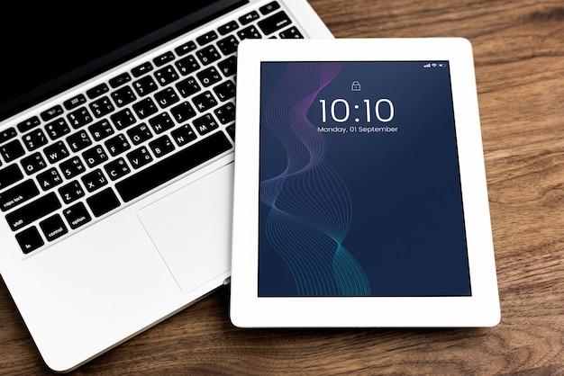 Modello di mockup di schermo tablet digitale