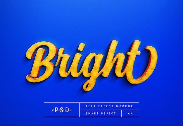 Modello di mockup effetto testo luminoso personalizzabile