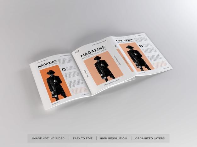 Modello di mockup rivista realistica