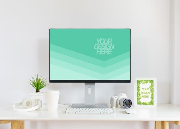Modello di monitor del computer moderno mockup