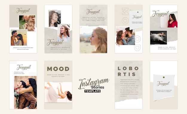 Modello di moodboard storie instagram