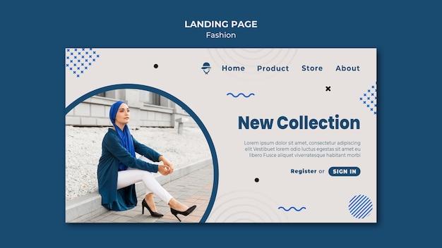 Modello di negozio di moda pagina di destinazione