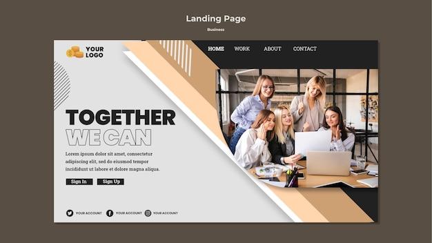 Modello di pagina di destinazione aziendale