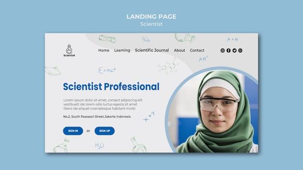 Modello di pagina di destinazione del club della scienza