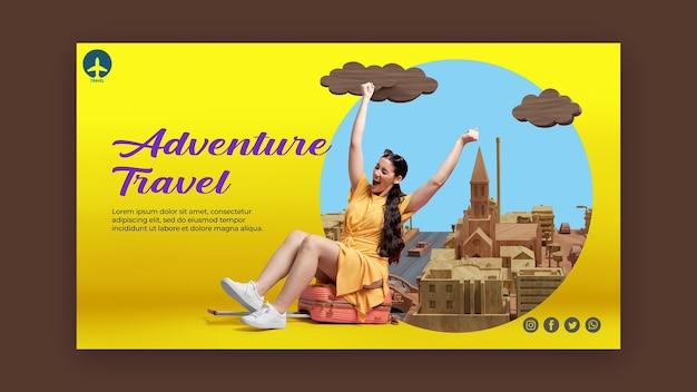 Modello di pagina di destinazione del concetto di viaggio