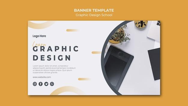 Modello di pagina di destinazione del design grafico