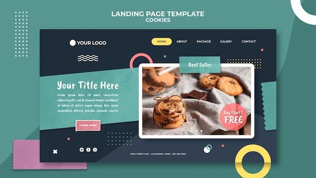 Modello di pagina di destinazione del negozio di biscotti