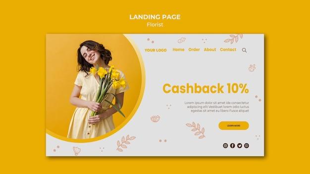 Modello di pagina di destinazione del negozio di fiori