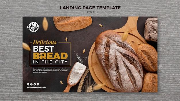 Modello di pagina di destinazione del pane
