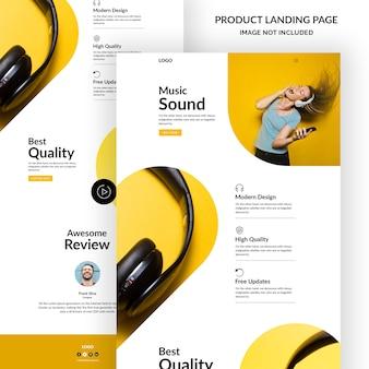 Modello di pagina di destinazione del prodotto