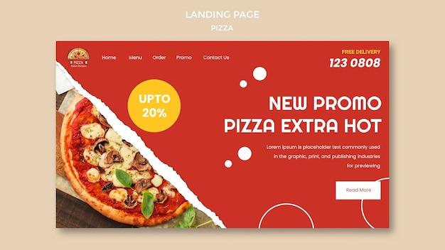 Modello di pagina di destinazione del ristorante pizzeria