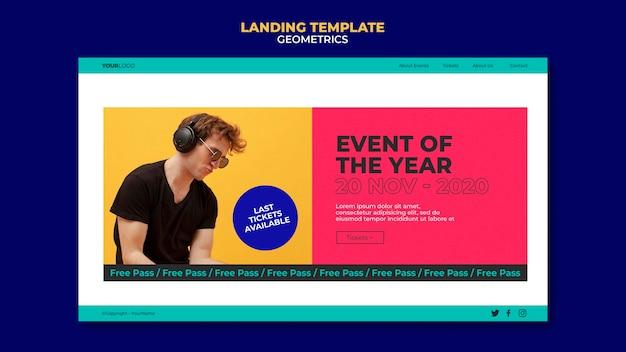 Modello di pagina di destinazione dell'evento dell'anno