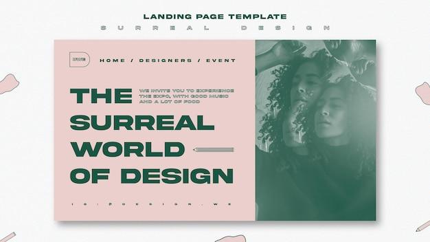 Modello di pagina di destinazione dell'evento di design surreale