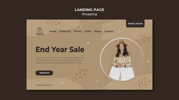 Modello di pagina di destinazione della vendita del negozio