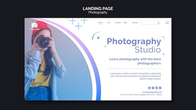 Modello di pagina di destinazione dello studio fotografico