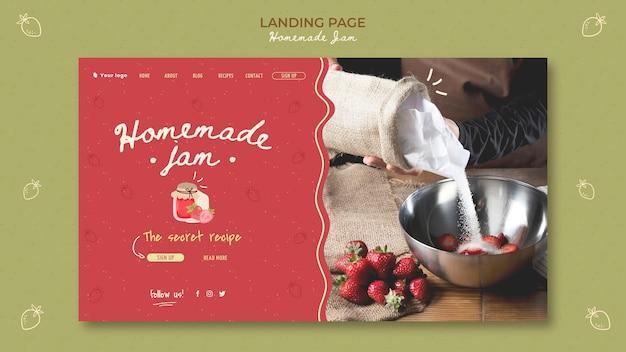 Modello di pagina di destinazione marmellata fatta in casa