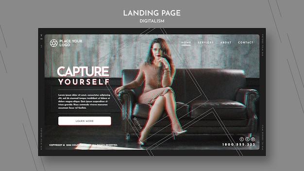 Modello di pagina di destinazione per catturare il tema