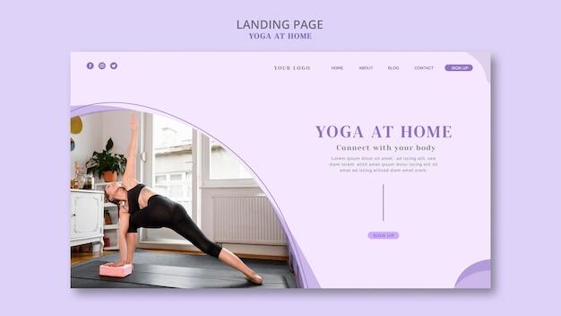 Modello di pagina di destinazione yoga a casa