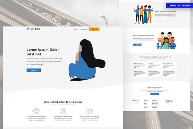 Modello di pagina di sito web multiuso
